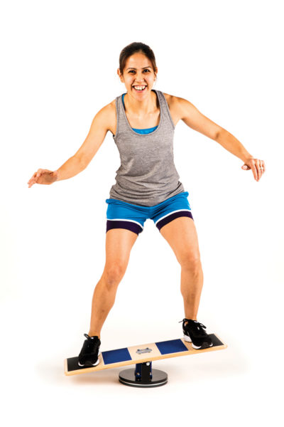 Standing Wide Stance on Extreme Balance Board