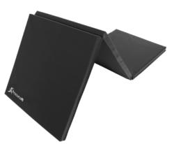 black Tri-folding exercise mat